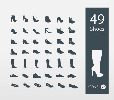 Illustration of Shoes icons set