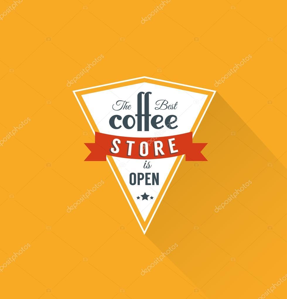 coffee label template stock vector sky designs 42774467