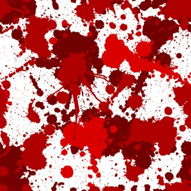 Seamless red bloody ink pattern