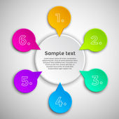 Fotografie Colorful modern infographics design template