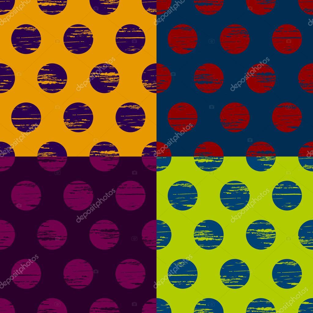 Set of circle seamless background