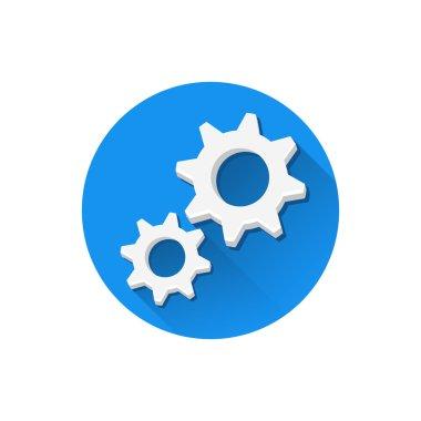 Vector Cogs Icon