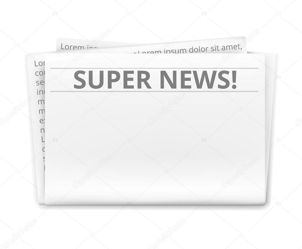 plantilla de periódico — Vector de stock © prettyvectors #48399453