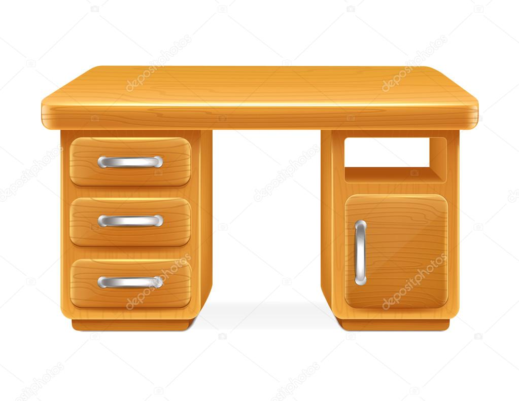 Vector Cartoon Computer Table Stock Vector