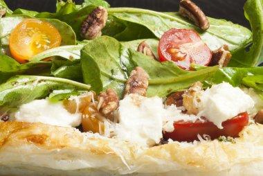 Goat Cheese Arugula Pesto Tart, Macro