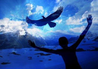 """Картина, постер, плакат, фотообои """"парит как орел """", артикул 35572599"""