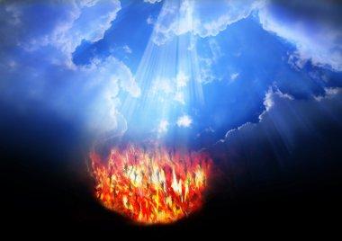 """Картина, постер, плакат, фотообои """"небеса и ад"""", артикул 35773479"""
