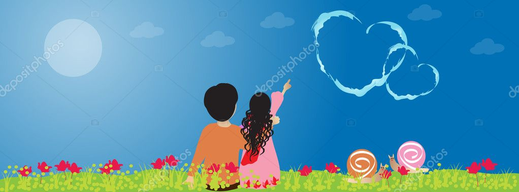 Couple in love - Facebook timeline