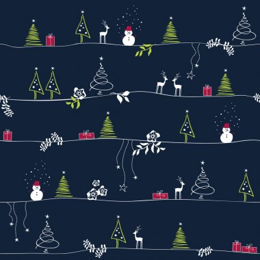 Seamless christmas pattern clip art vector