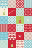 Fotografie bezešvé patchwork vánoční vzor