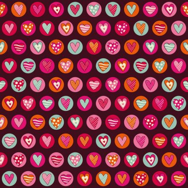 Seamless heart pattern stock vector