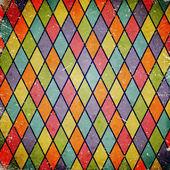 Fotografie bunte Grunge hintergrund mit Harlekin-Muster