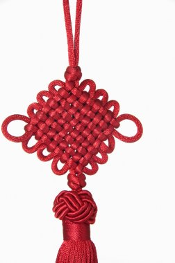 Chinese Hanging Decoration On White Background. Chinese New Year