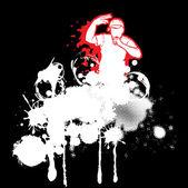 Fotografia rap illustrazione vettoriale artista