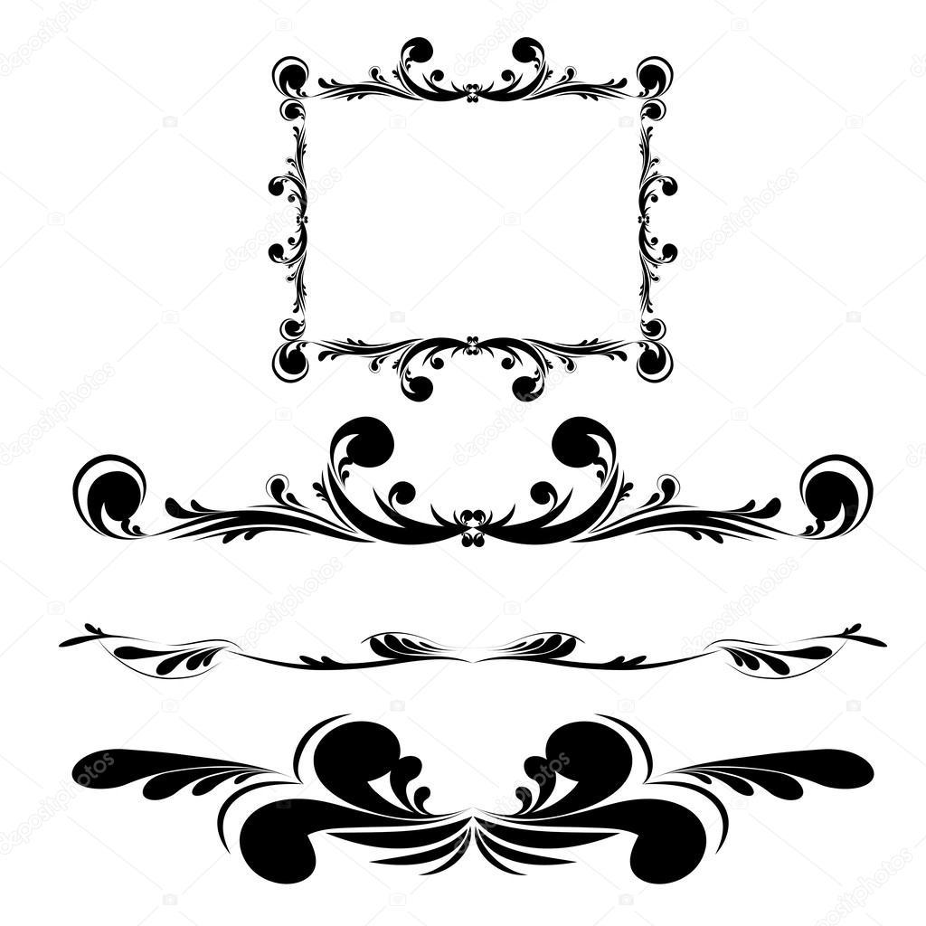 Marcos antiguos elegancia — Vector de stock © ElemenTxDD #39107277
