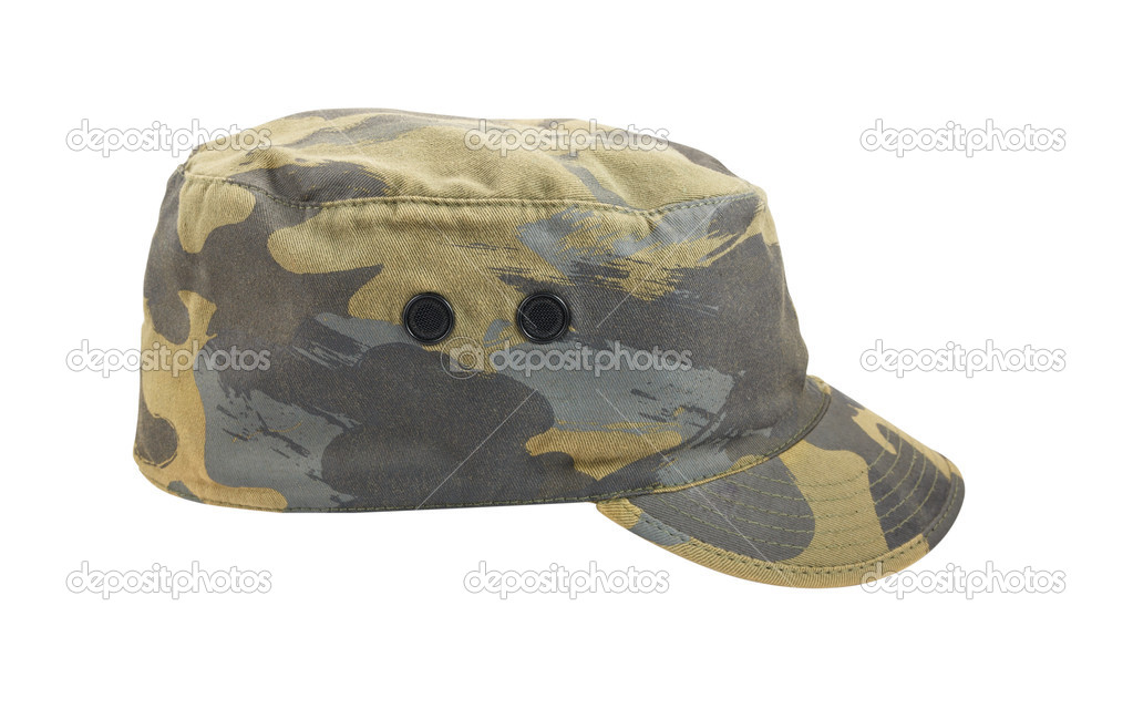 1ecbb82660ed65 Army camouflaged cap isolated on white background — Stock Photo ...