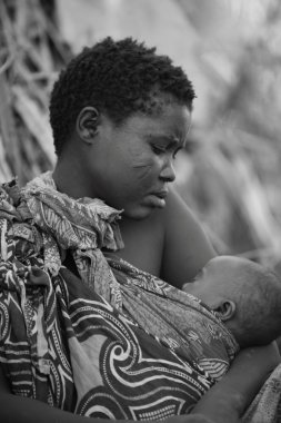 A moment in the daily life of the Hadza tribe of Lake Eyasi Tanzania.