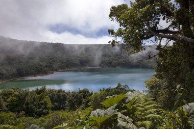 The Botos volcanic lagoon in Poas volcano of Costa Rica