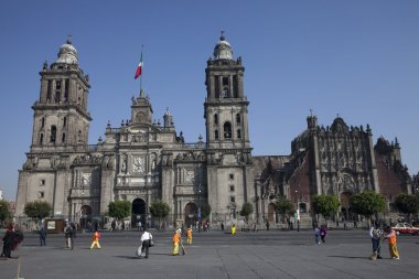 Cathedral of Mexico City in Plaza Zocalo
