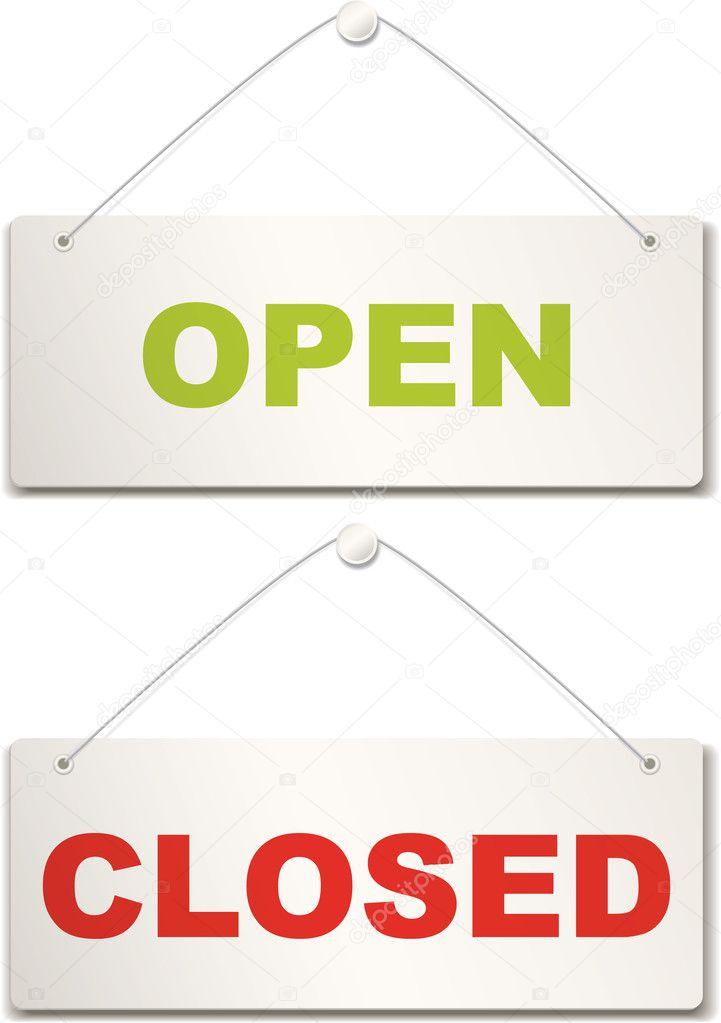 Open and closed door sign