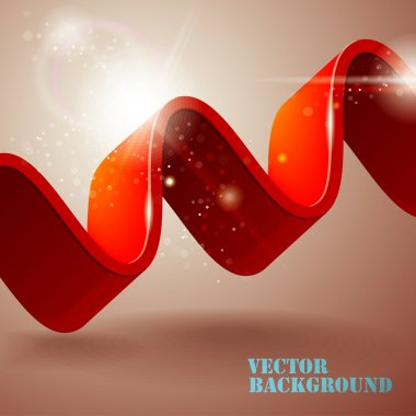 Abstract background with wave stock vector