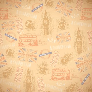 English vintage retro background