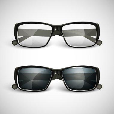 Set of sunglasses and eyeglasses