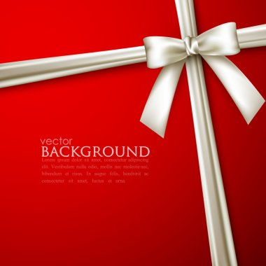 Elegant red background with white bow