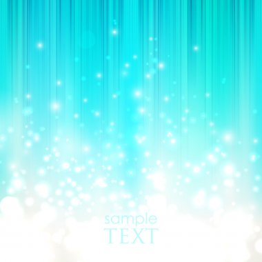 Abstract blue background with sparkles stock vector
