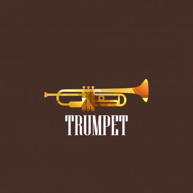 Illustration with diamond trumpet icon