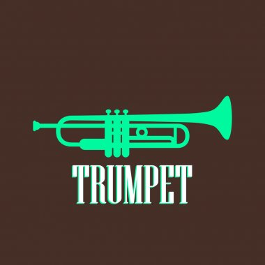 Vintage illustration with trumpet