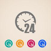 Otevřeno 24 hodin denně ikony