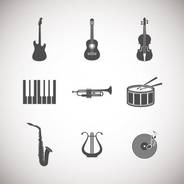 Set of musical instrument icons