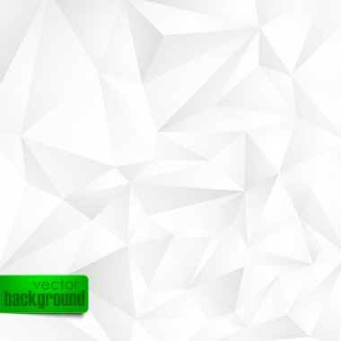 Abstract background with white triangles