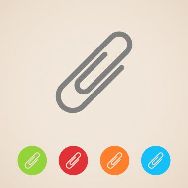 Vector paper clip icons stock vector