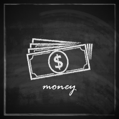 Vintage illustration with money