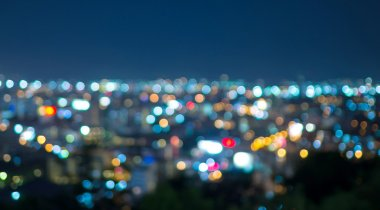 Pattaya cityscape at twilight time, Blurred Photo bokeh