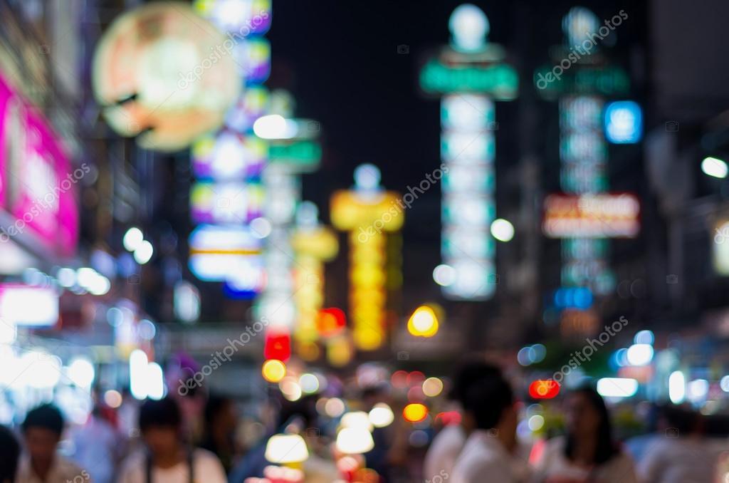 The China Town At Night Blurred Photo Bokeh Stock Photo Image By C Tzido 40417855