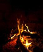 tűz a fekete háttér