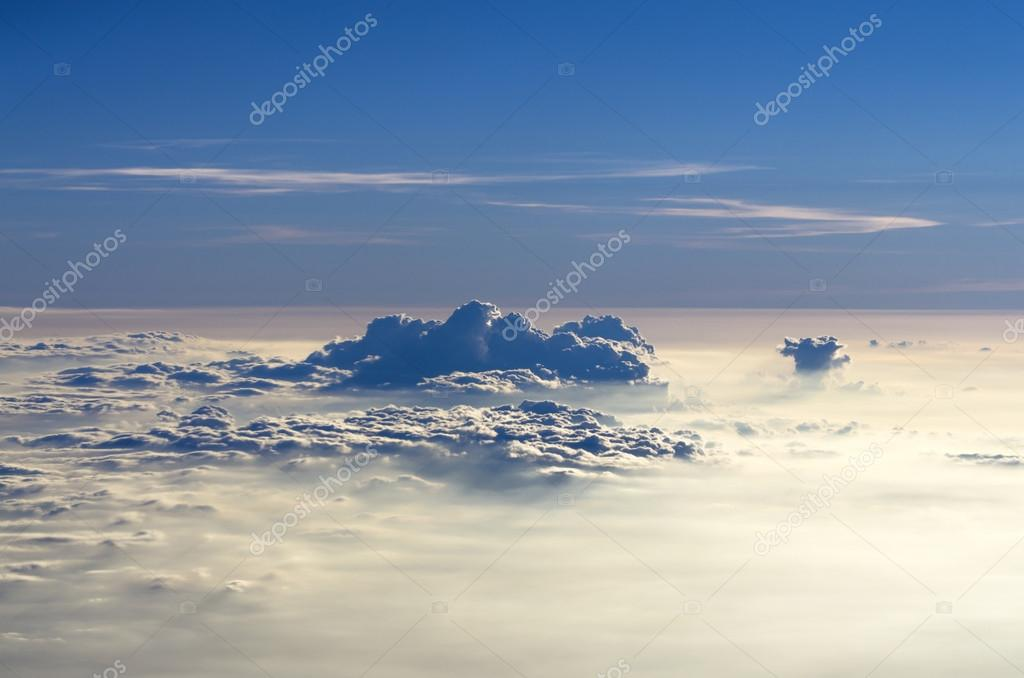 clouds on the sky from high view