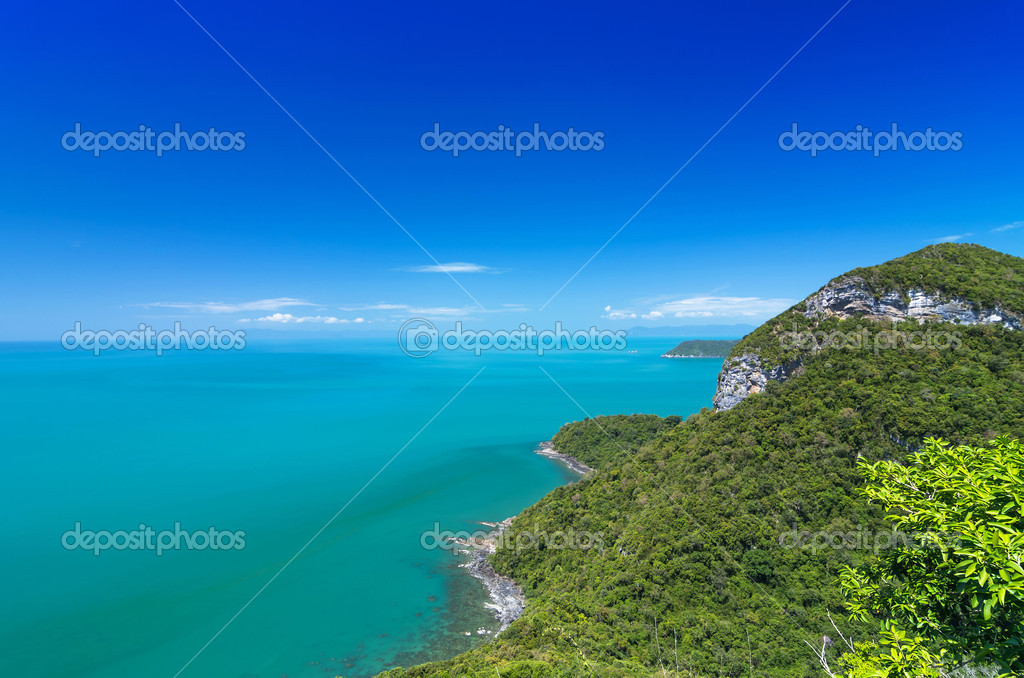 Beautiful Top view of Ang Thong National Marine Park, Thailand,