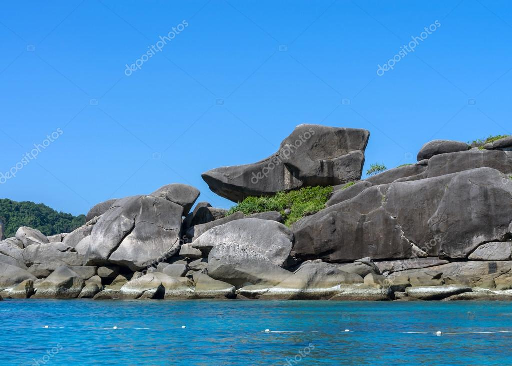 Similan islands, Beautiful view of donald duck or boot rock, Tha