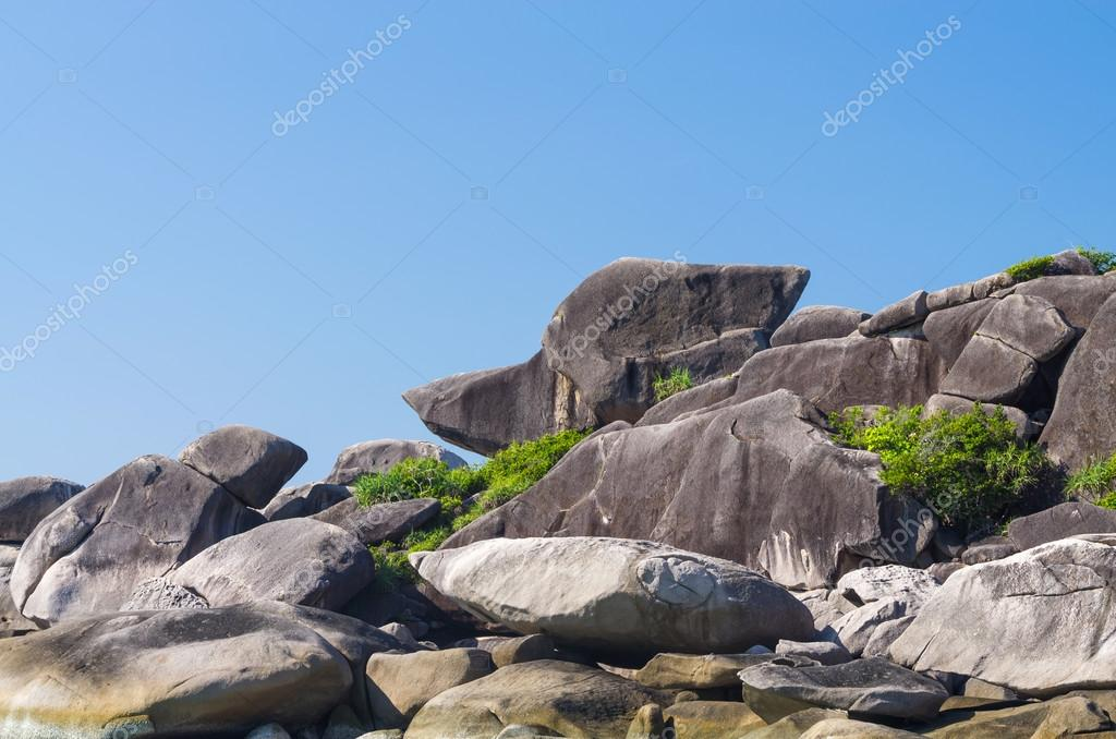 Similan islands, Beautiful view of donald duck or boot rock, Thailand