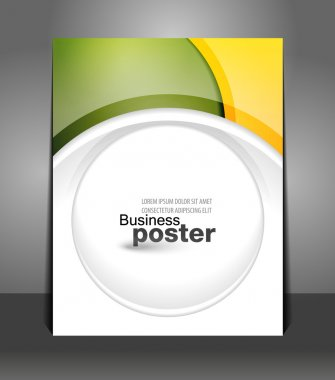 Stylish presentation of business poster