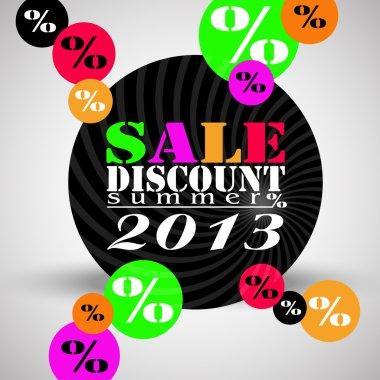 Color discount sale background