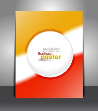 Stylish business poster
