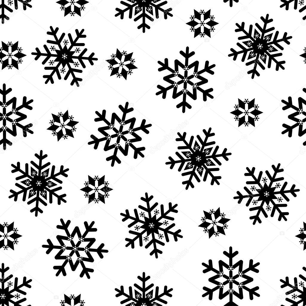 Préférence flocon de neige modèle sans couture — Image vectorielle bkamasova  LD67