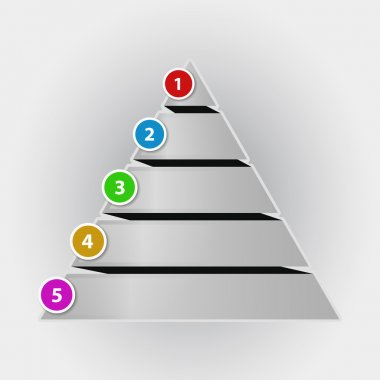 Infographic concept pyramid chart