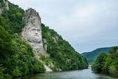 Fotografie King Decebal, rock sculpture