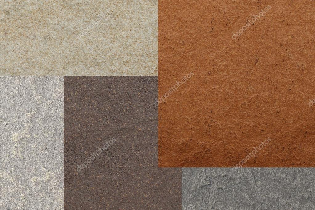 Marmo texture di colore collage di piastrelle u foto stock
